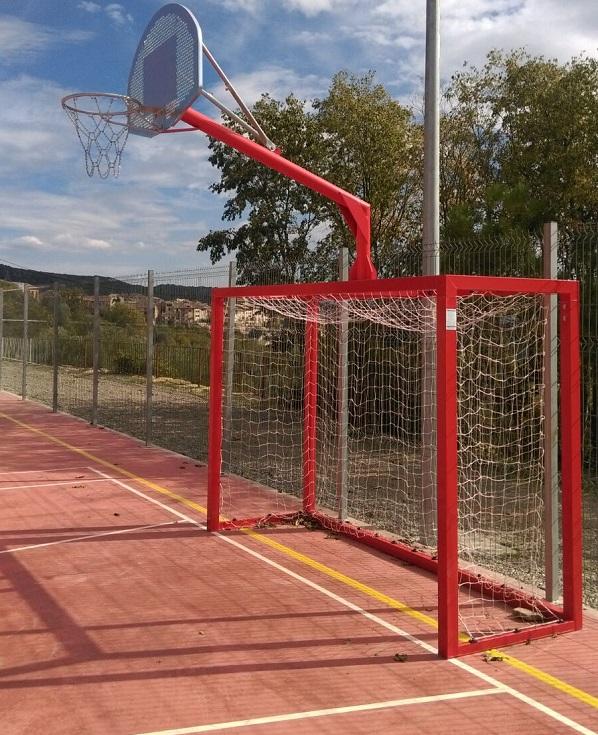 Porteria futbol sala con canasta newbranch - Canasta de baloncesto ...